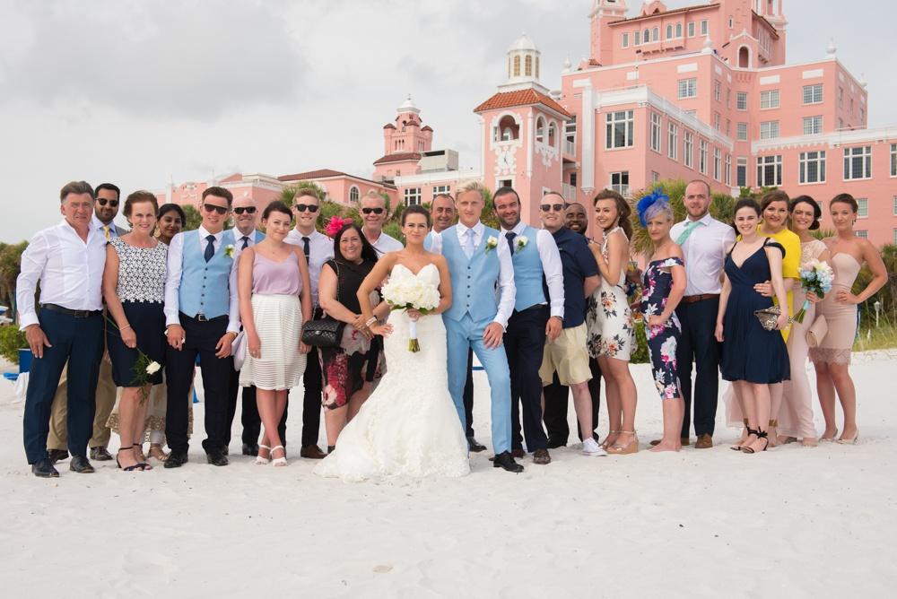 Group Beach Wedding Photo