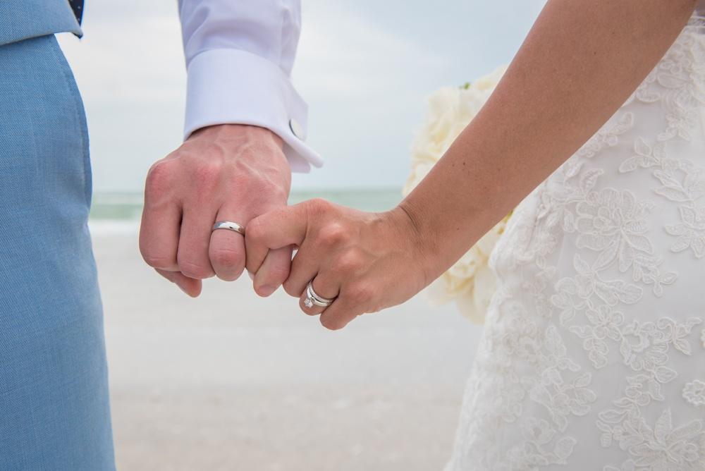Holding Hands Wedding Ring Photo