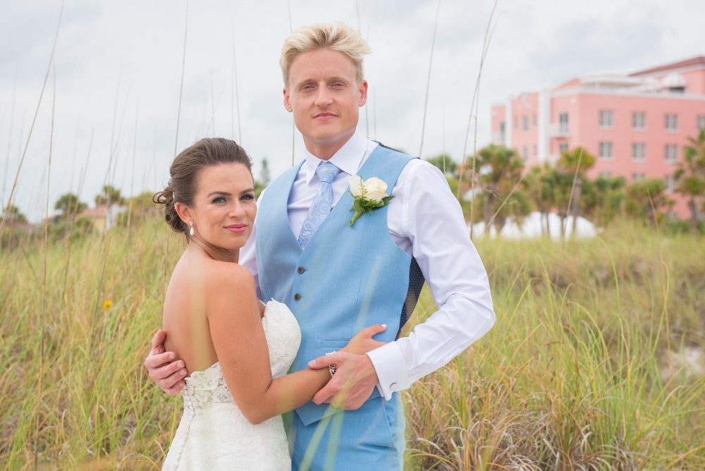 Bride and Groom Beach Wedding Photo
