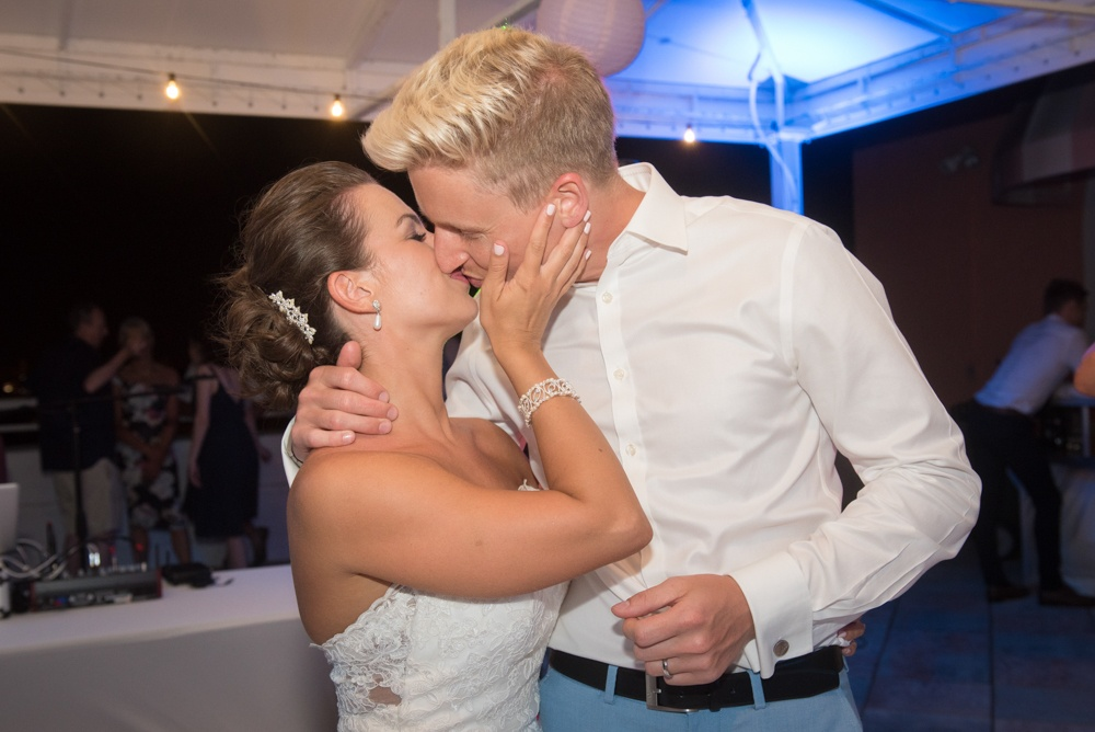 Wedding Couples Final Kiss of the Night