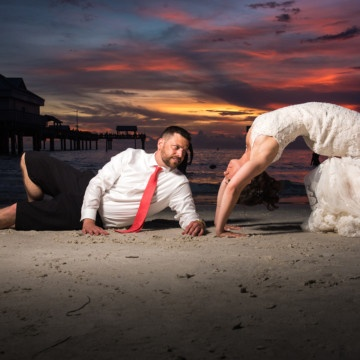 Clearwater Beach Pier Wedding Photographer