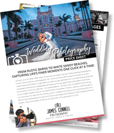 James Connell Photography - Wedding Photography Price Sheet