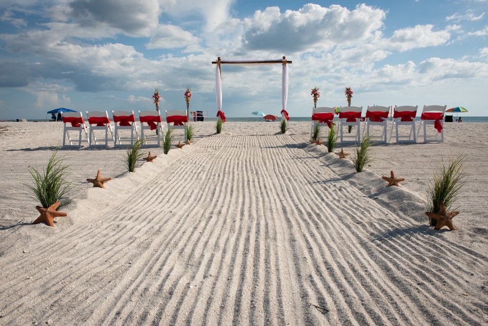 Gulf Beach Weddings Beach Wedding Setup
