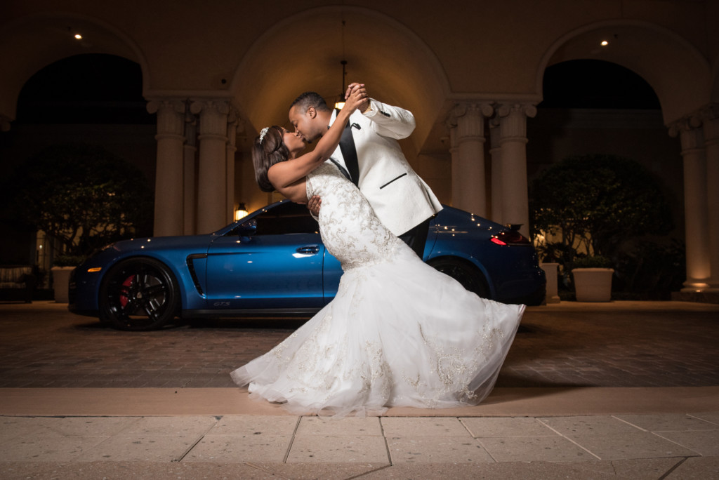 Example of an Off Camera Flash Wedding Photo