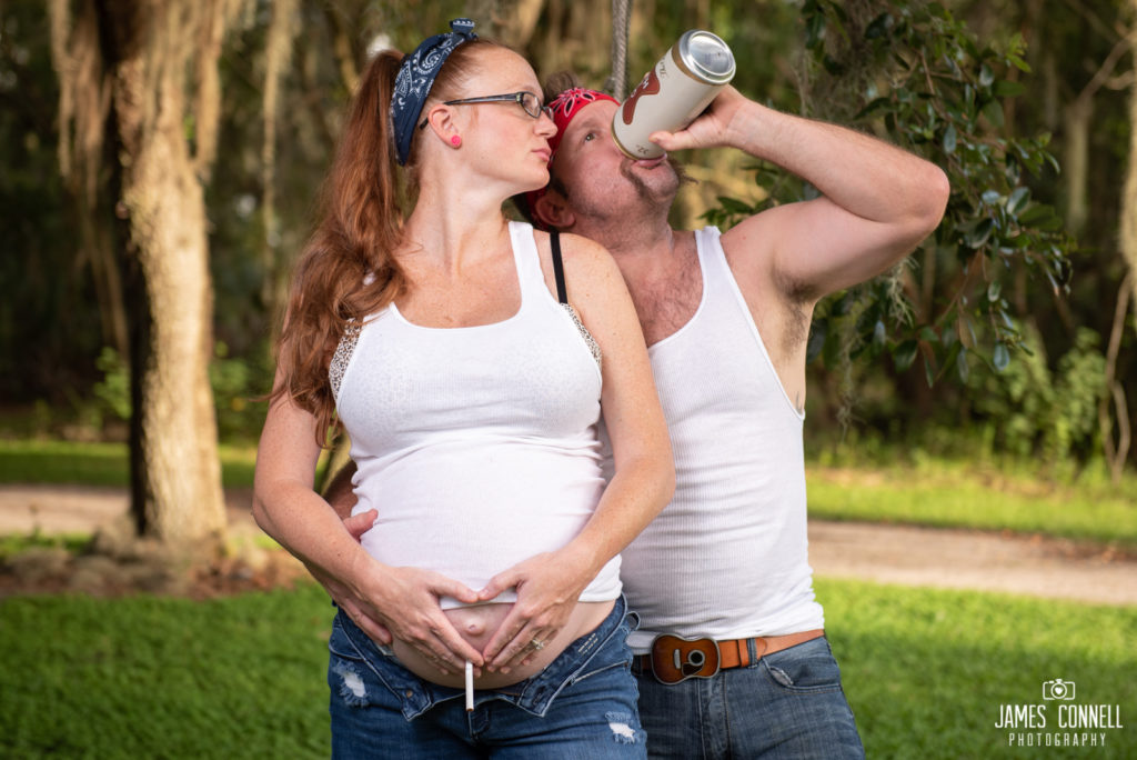White Trash Redneck Maternity Photos JCP-11