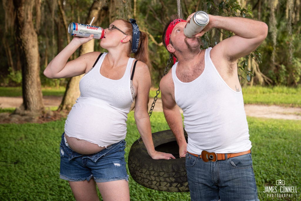 White Trash Redneck Maternity Photos JCP-12