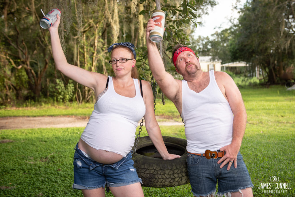White Trash Redneck Maternity Photos JCP-13