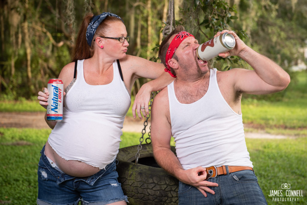 White Trash Redneck Maternity Photos JCP-15