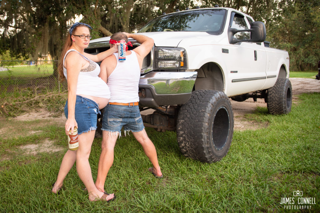 White Trash Redneck Maternity Photos JCP-19