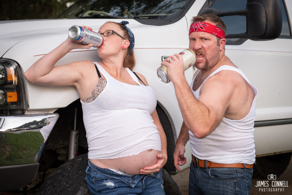 White Trash Redneck Maternity Photos JCP-20