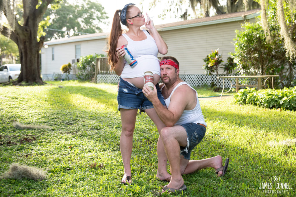 White Trash Redneck Maternity Photos JCP-3