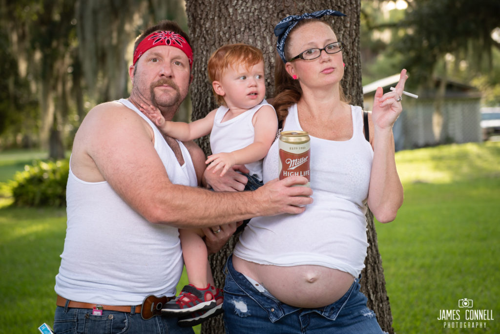 White Trash Redneck Maternity Photos JCP-6
